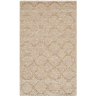 Martha Stewart Quatrefoil Salmon Silk/ Wool Rug (2'6 x 4'3)