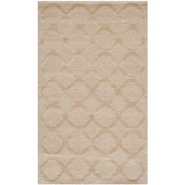 Martha Stewart by Safavieh Quatrefoil Salmon Silk/ Wool Rug - 2'6 x 4'3