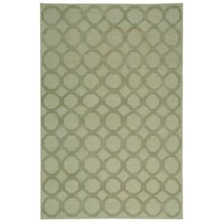 Martha Stewart by Safavieh Quatrefoil Mist Silk/ Wool Rug (5'6 x 8'6)