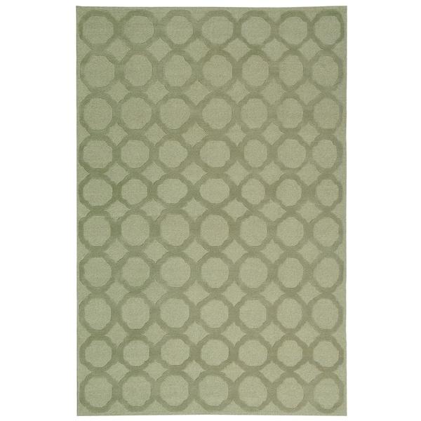 Martha Stewart by Safavieh Quatrefoil Mist Silk/ Wool Rug - 7'9 x 9'9
