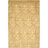 """Martha Stewart by Safavieh Seaflora Corraline Silk/ Wool Rug - 7'9"""" x 9'9"""""""