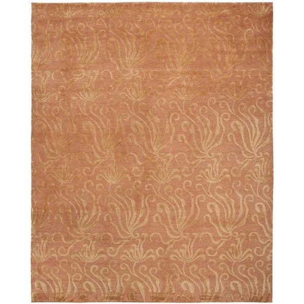 Martha Stewart by Safavieh Seaflora Corraline Silk/ Wool Rug - 8'6 x 11'6