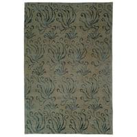 "Martha Stewart by Safavieh Seaflora Lagoon Silk/ Wool Rug - 5'6"" x 8'6"""
