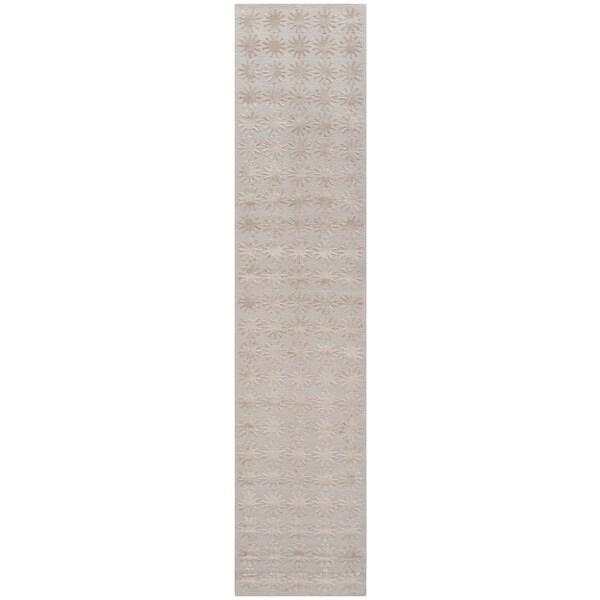 Martha Stewart by Safavieh Constellation Day/ Break Silk/ Wool Rug (2'3 x 10')