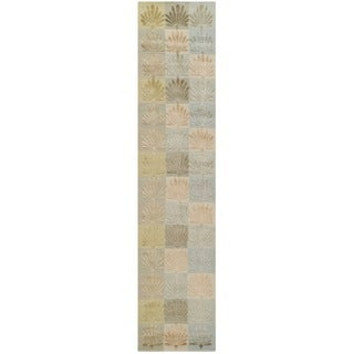 Martha Stewart Sanctuary Oasis Silk/ Wool Rug (2'3 x 10')
