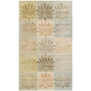 Martha Stewart by Safavieh Sanctuary Oasis Silk/ Wool Rug (3'9 x 5'9)