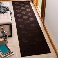 """Martha Stewart by Safavieh Medallions Onyx Silk/ Wool Rug - 2'3"""" x 10'"""