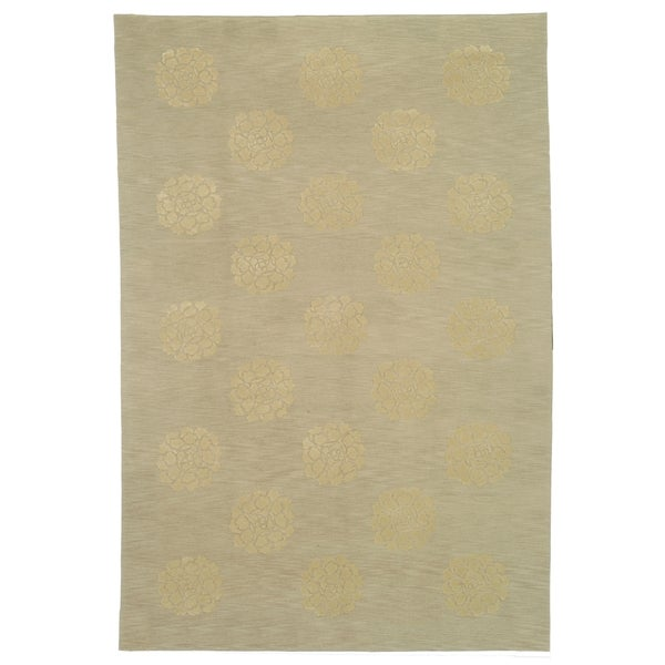 Martha Stewart by Safavieh Medallions Quartz Silk/ Wool Rug - 7'9 x 9'9
