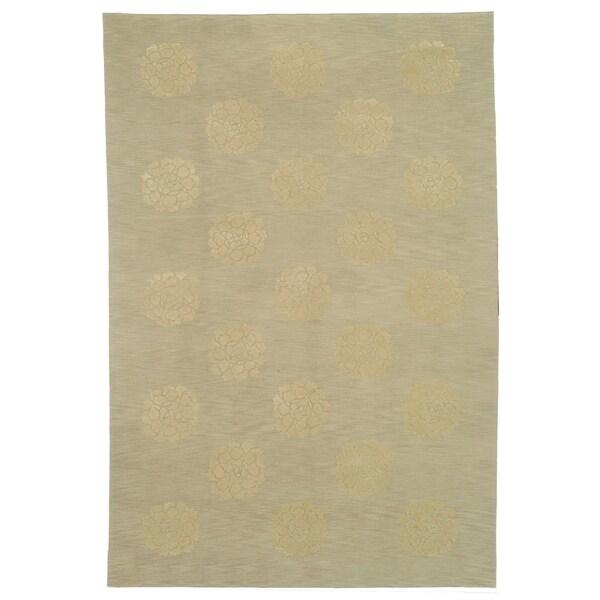 Martha Stewart by Safavieh Medallions Quartz Silk/ Wool Rug (8'6 x 11'6)