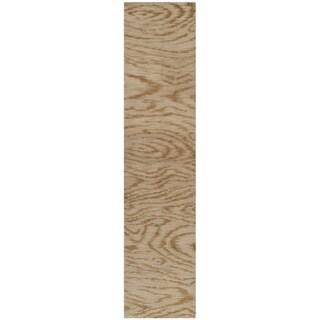 Martha Stewart Faux Bois Porcini Silk/ Wool Rug (2'3 x 10')