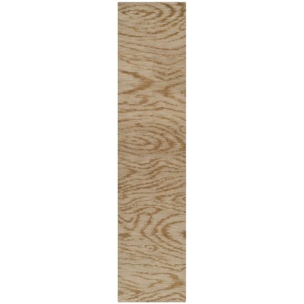 Martha Stewart by Safavieh Faux Bois Porcini Silk/ Wool Rug (2'3 x 10')