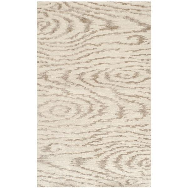 Martha Stewart by Safavieh Faux Bois White Birch Silk/ Wool Rug (2'6 x 4'3)
