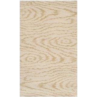 Martha Stewart by Safavieh Faux Bois Pinenut Silk/ Wool Rug (2'6 x 4'3)