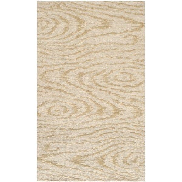 Martha Stewart by Safavieh Faux Bois Pinenut Silk/ Wool Rug (2'6 x 4'3) - 2'6 x 4'3