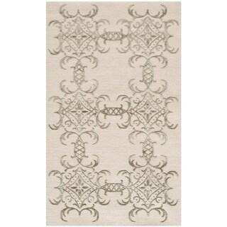 Martha Stewart by Safavieh Tracery Birch Silk/ Wool Rug (2'6 x 4'3)
