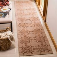 "Martha Stewart by Safavieh Tracery Rose/ Wood Silk/ Wool Rug - 2'3"" x 10'"