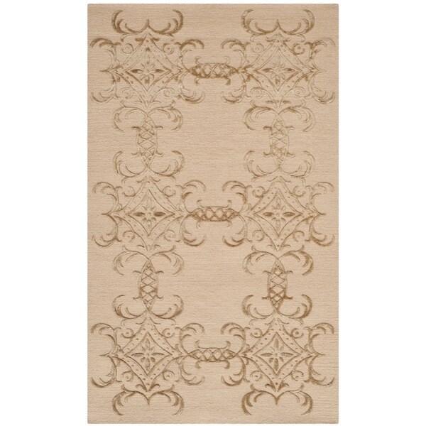 Martha Stewart by Safavieh Tracery Pecan Silk/ Wool Rug (2'6 x 4'3)