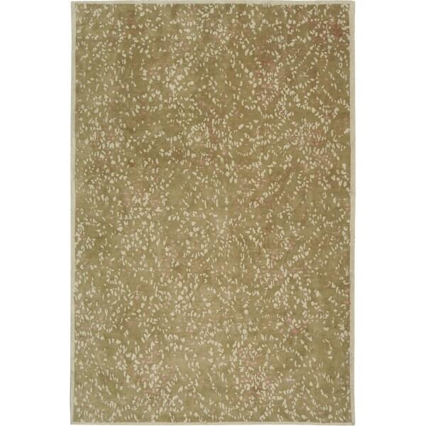 Martha Stewart by Safavieh Sakura Fawn Blossom Silk/ Wool Rug - 8' x 10'
