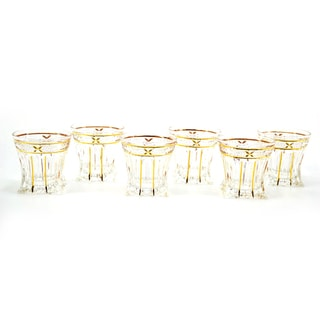 Goldtone Edged Shot Glasses (Set of 6)