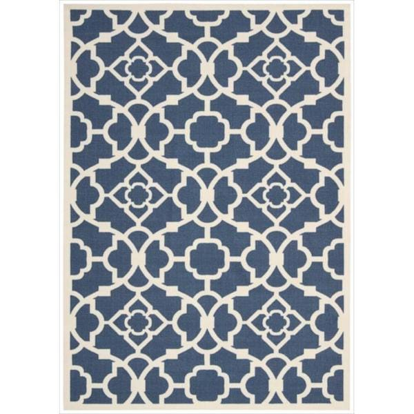 Waverly Sun N' Shade Lovely Lattice Lapis Area Rug by Nourison (7'9 x 10'10)