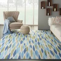 Waverly Sun N' Shade Bits & Pieces Seaglass Area Rug by Nourison - 5'3 x 7'5