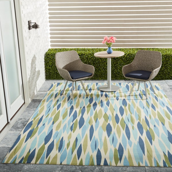 Very best Waverly Sun N' Shade Bits & Pieces Seaglass Area Rug by Nourison  KN45