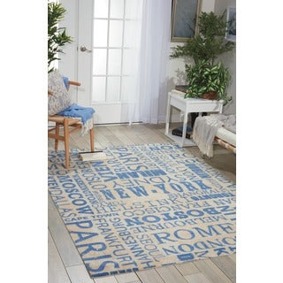 Waverly Sun N' Shade Pattern Destinations Citrus Area Rug by Nourison (5'3 x 7'5)