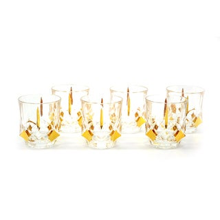 10-Ounce Goldtone Detailed Liquor Glasses (Set of 6)