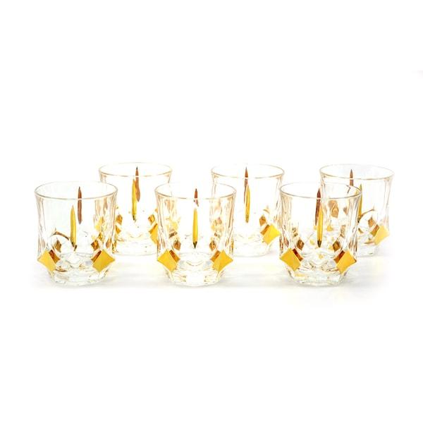 10-Ounce Goldtone Detailed Liquor Glasses (Set of 6)