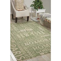 Waverly Sun N' Shade Pattern Destinations Wasabi Area Rug by Nourison - 7'9 x 10'10