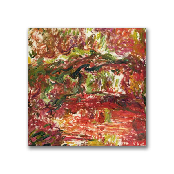 Claude Monet 'The Japanese Bridge at Giverny II' Canvas Art