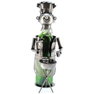 Wine Caddy BBQ Chef Wine Bottle Holder