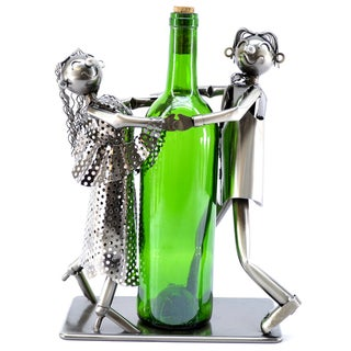 Musical Tango Dancers Metal Wine Bottle Holder