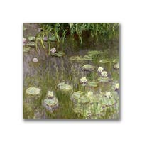 Claude Monet 'Waterlilies at Midday' Canvas Art - Multi