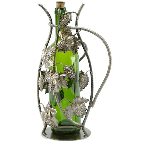 Wine Caddy Grapes 13-Inch Wine Bottle Holder