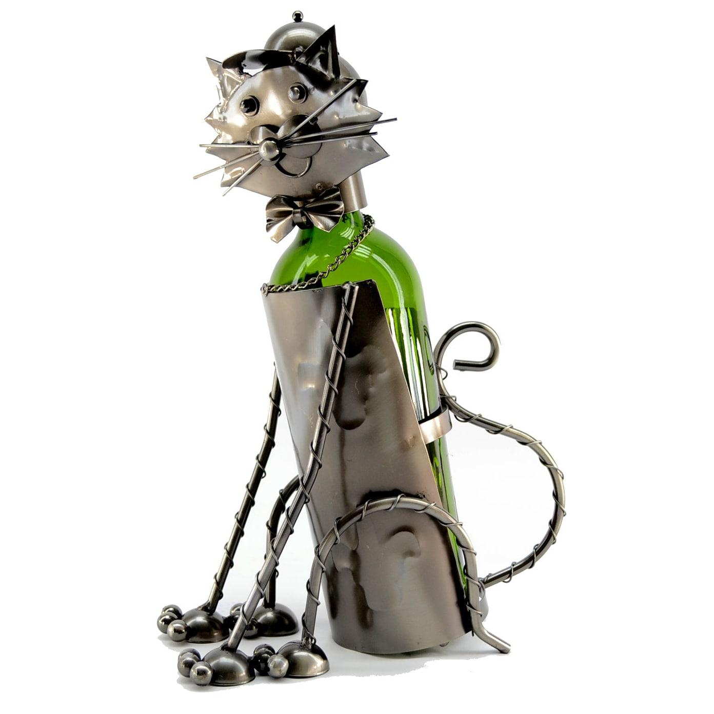 Caddy Company Wine Caddy Sitting Cat Wine Bottle Holder (...