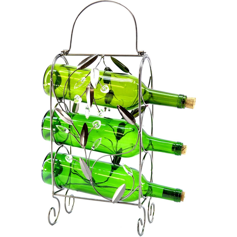 3-Bottle Wine Rack (ZB240), Silver (Metal)