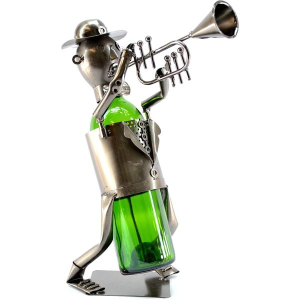 Wine Caddy Trumpet Player Wine Bottle Holder