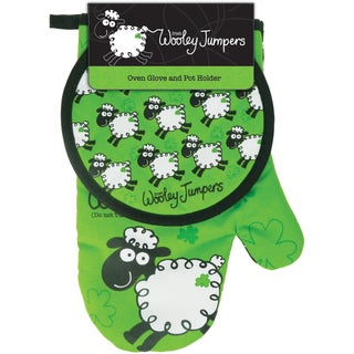Wooley Jumper Oven Glove and Pot Holder Set
