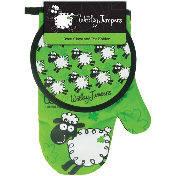 Wooley Jumper Oven Glove and Pot Holder Set