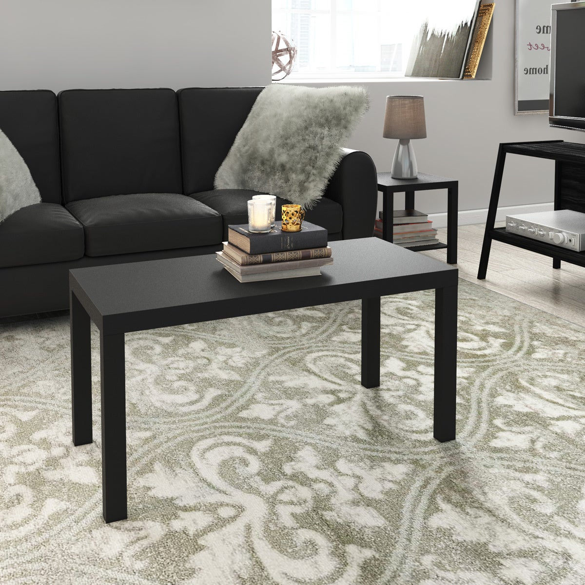 wicker park alley coffee table and end tables 3-piece set - free