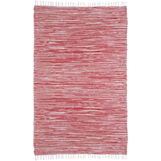 Red Reversible Chenille Flat Weave Rug (8' x 10')