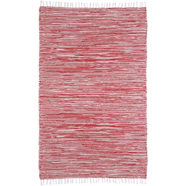 Red Reversible Chenille Flat Weave Rug - 8' x 10'