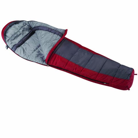Wenzel Windy Pass Sleeping Bag - Red/Grey