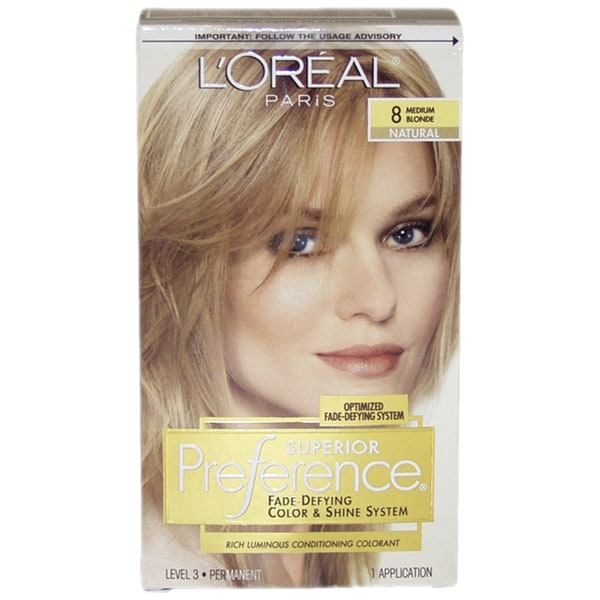 Loreal Superior Preference Fade Defying Medium Blonde 8 Natural