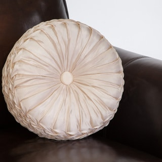 14-inch Round Ivory Sateen Pillow by Christopher Knight Home