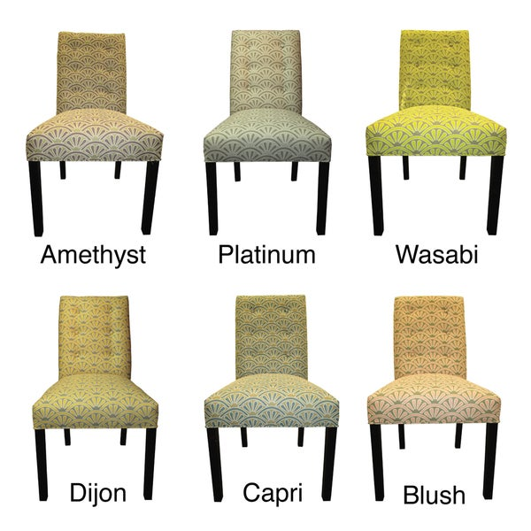 sole designs bonjour 6button tufted dining chairs set of 2