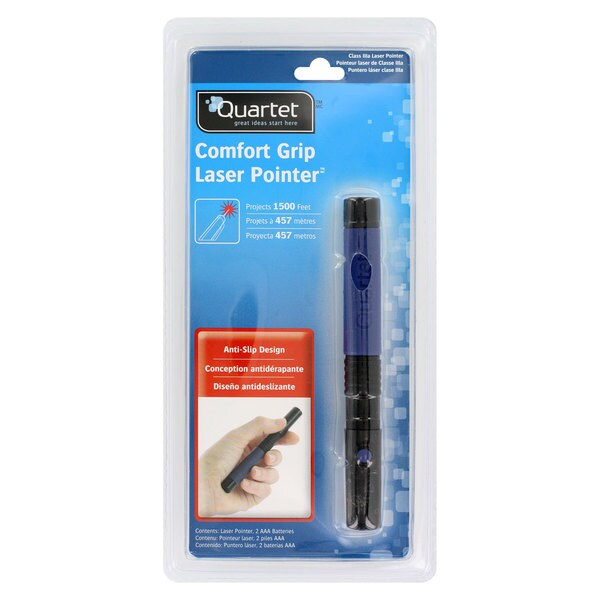 Quartet Comfort Grip Blue Laser Pointer