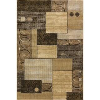 Somette Providence Decker Cocoa/ Gold Area Rug - 5' x 7'6