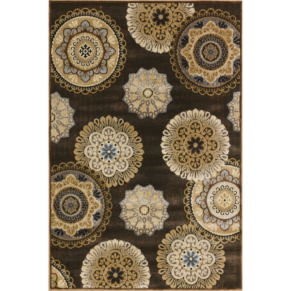 Somette Providence Vintage Cocoa Area Rug (7'10 x 9'10)